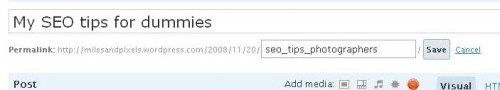 SEO optimisation for URL